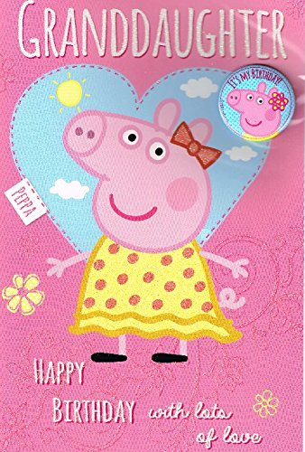 Amazon Peppa Pig Granddaughter Happy Birthday Card With Free