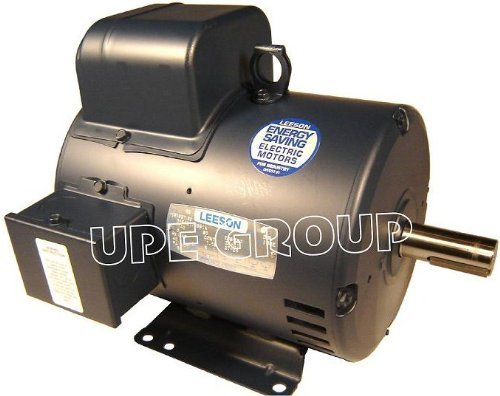New Leeson Electric Motor 7.5hp 1ph 230Volt 184T 3450 rpm 1 1/8 shaft - 132044 - Compressor motor by Leeson