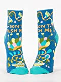 Blue Q Mens Don't Push Me Ankle Socks Women's Shoe Size 5-10