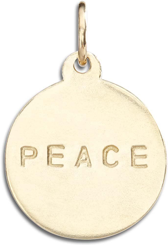 Helen Ficalora ''Peace'' Disk Charm Yellow Gold