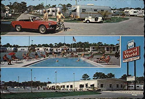 Travel World Clearwater, Florida Original Vintage Postcard ()