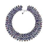 "MGR Women's ""Seductive Purple""Bib Choker Statement Collar Necklace"