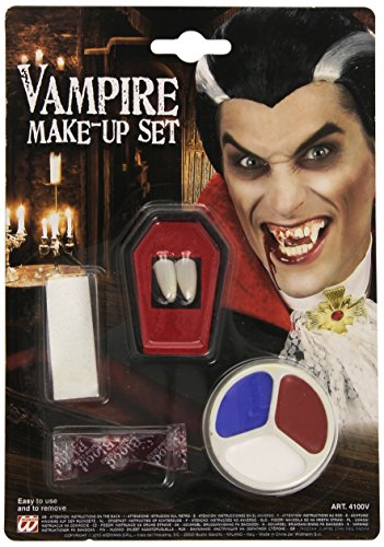 [Dracula Makeup Set With Fangs For Face & Body Paints & Fancy Dress Disguises] (Dracula Makeup)