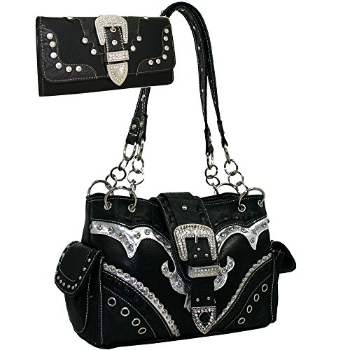 Western Rhinestone Buckle Handbag Matching product image