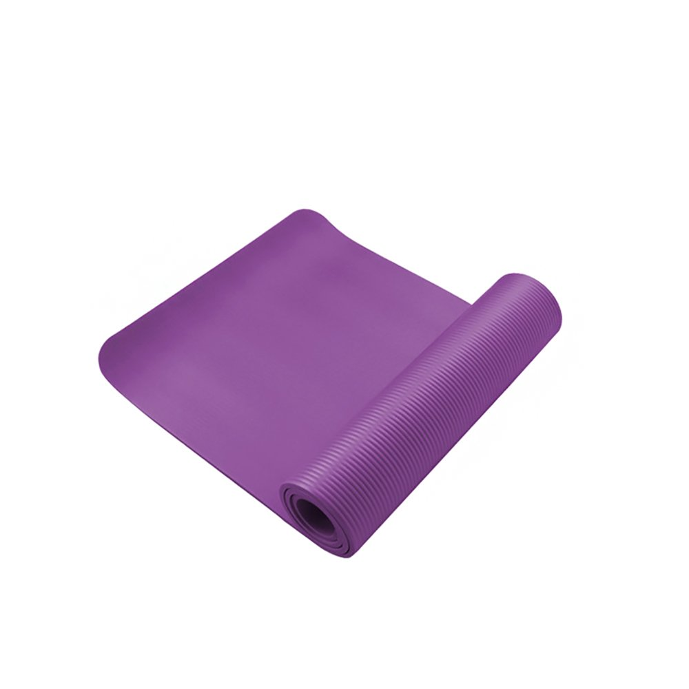 Yoga Mat 1/2-Inch Extra Thick Exercise Mat All-Purpose (24''x71'') Purple