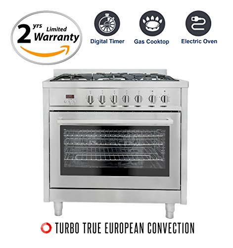 Cosmo F965 36-Inches Dual Fuel Gas Range with 3.8 cu. ft....
