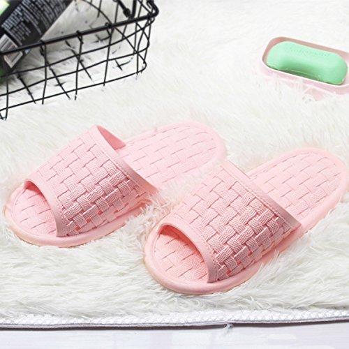Hembra de Zapatillas Baño Cool Antideslizante casa Baño Parejas Zapatillas fankou Verano de plástico de Rosa FHwOUqqg