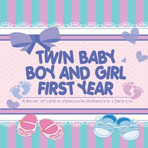 Twin Baby Boy and Girl First Year - A Book of Life