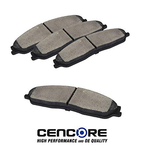 4pcs Front Ceramic Disc Brake Pads for Cadillac XLR, 1997-2004 Chevy Corvette C5, Corvette C6 Base Models 2010-2011, 2005 2006 2007 2008 2009 Chevrolet Corvette C6 Models with Z51 (Corvette Z51 Performance Package)