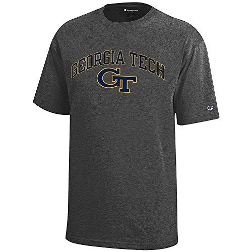 Elite Fan Shop Georgia Tech Yellow Jackets Kids Tshirt Arch Charcoal - S