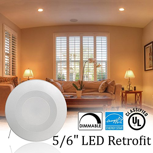 Sunco Lighting 8 Pack 5 / 6Inch Baffle Recessed Retrofit Dimmable LED Light, 13W (75W Replacement), 4000K Kelvin Cool White, Quick/Easy Can Install, 1050 Lumen, Damp Area by Sunco Lighting (Image #7)