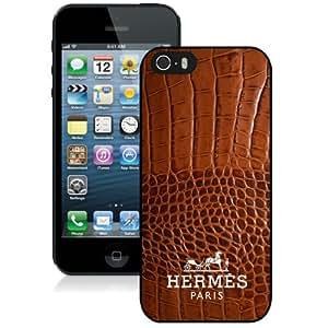 Hermes (1) Black Abstract Design Custom iPhone 5 5S Case
