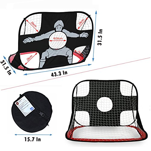 Eggsnow 2 in 1 Pop Up Kids Soccer Goal Portable Kids Soccer Net Kids Soccer Target with Carry Bag,Perfect for Indoor & Outdoor Sports and Practice by Eggsnow (Image #2)