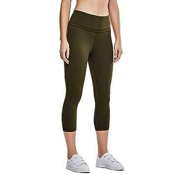 Baiomawzh Pantalones Yoga Mujeres 3/4 Leggings Pantalón de ...