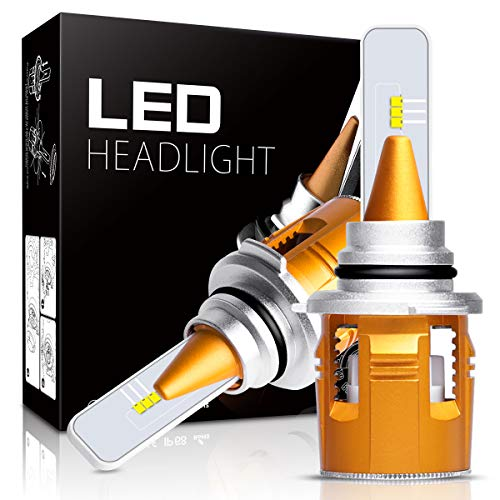 9005 LED Headlight Bulbs,Autofeel 8000LM Super Bright Philip ZES Chips Car Exterior White Light Built-in Driver Lamp All-in-One Conversion Bulb Kit with 6000K Cool White Lights - 1 Year Warranty
