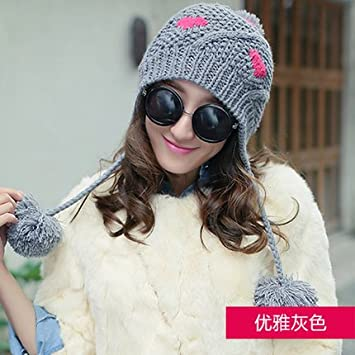 cef1b7f84c0 Amazon.com  Wuyulunbi  Knitted Hat with Respirator and Hat