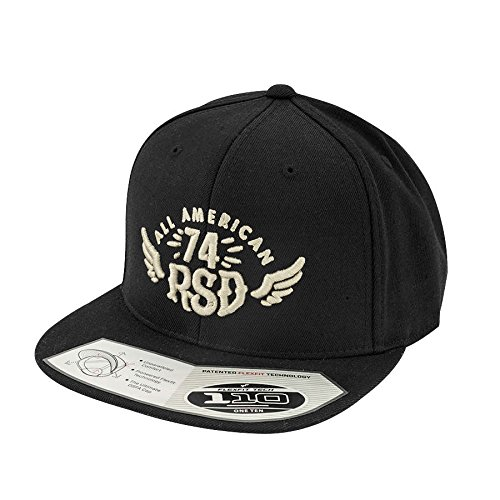 Roland Sands Design All American Flexfit Black Cap, One Size Fits Most