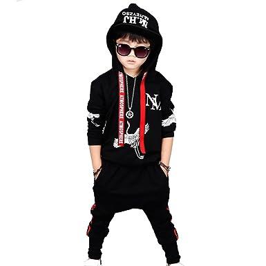 Vividda niño otoño invierno Niño Tapas encapuchadas manga larga Camisetas blusas + Pantalones largos Conjuntos de ropa: Amazon.es: Ropa y accesorios