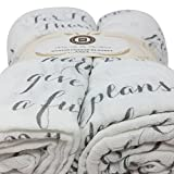 Scripture Strong Jeremiah 29:11 | Best Muslin Baby Swaddle Blanket Gift Set | 100% Cotton Receiving Blankets | Extra Large (4'x4') | Gray, 2 Pack