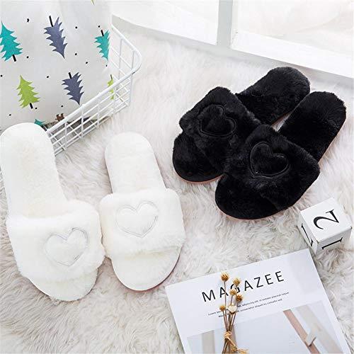 Waysad Peluche Di Amore Inverno Le Cotone Donne Coperta Antiscivolo Bianco Calde Pantofole Home Per 1rxBqCwWA1