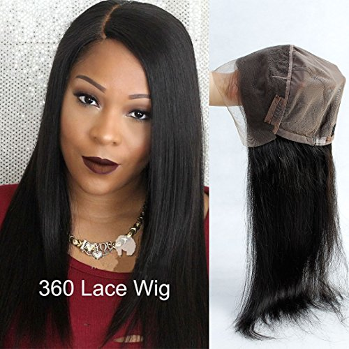 Pre Plucked 360 Lace Frontal Wig with Baby Hair Brazilian Straight Hair Lace Wigs for Blacek Women Natural Color Human Hair Wigs 150 Density (20'' Straight lace Wig by Royale hair