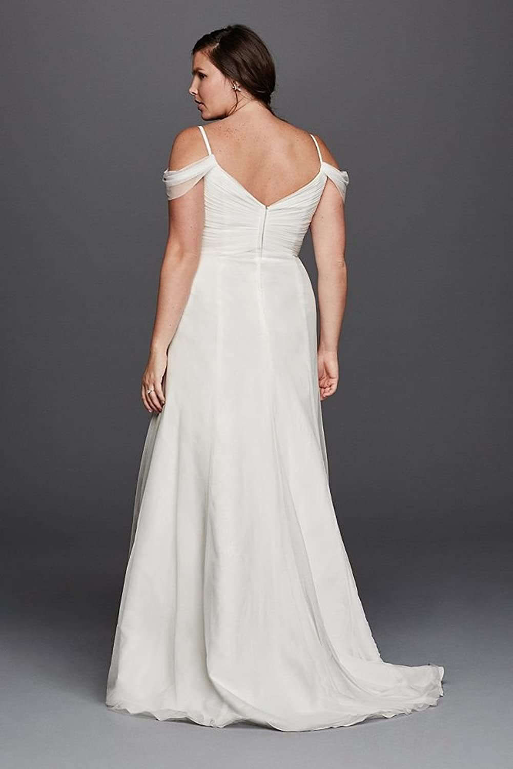Davids bridal a line plus size wedding dress with swag sleeves davids bridal a line plus size wedding dress with swag sleeves style 9wg3779 soft white 18w at amazon womens clothing store junglespirit Image collections