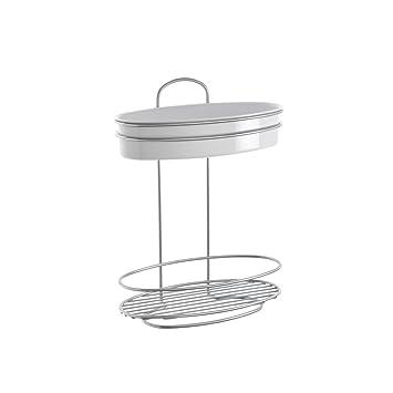 Metaltex Orbit Estante baño 2 Pisos, Chrometherm, Plata y Blanco: Amazon.es: Hogar