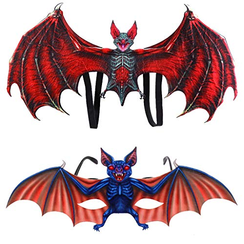 Muranba◕ᴗ◕ Kids Fantasy Halloween Bat Costume Child Animal Wing Glasses Set Accessory (Best Place To Sell Carnival Glass)