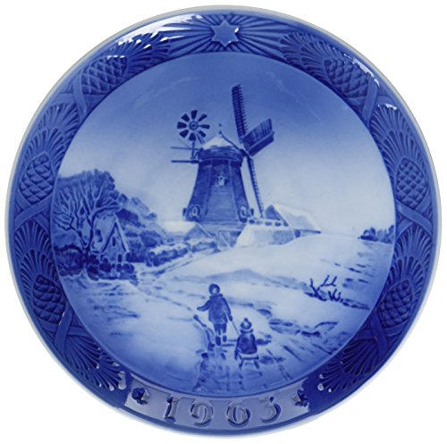 (1963 Royal Copenhagen Christmas Plate - Hojsager Windmill)
