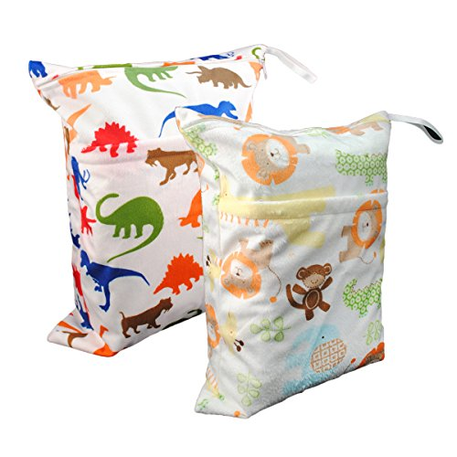 Alva Baby bolsa para llenar pañales humedos y secos con 2 capas L3533-ES dinosaurs and lions