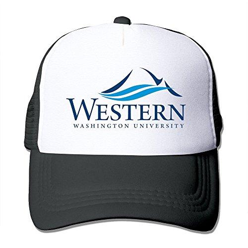 deporte de Gorra béisbol sombrero Negro adultos Occidental de Washington Universidad nailon 100 SZn70Hzq