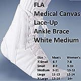 FLA Medical Canvas Lace-Up Ankle Brace White Medium