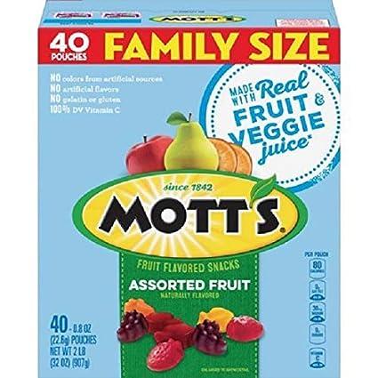 Amazon.com : Motts Fruit Snacks, Assorted Fruit Gluten Free ...