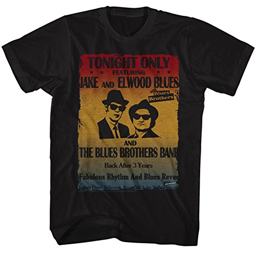 Purchase Music Posters - Blues Brothers Men's Poster T-shirt X-Large Black