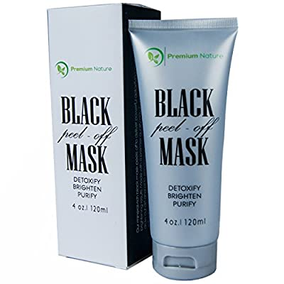 Blackhead Remover Mask - Deep Detox Cleanser 100% Natural Reduce Pores Pimple & Acne Absorbs Dirt & Oil - Brighten & Purify Premium Nature