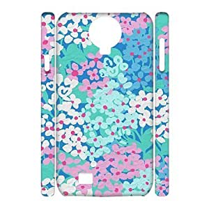 Blue Flowers Unique Design 3D Cover Case for SamSung Galaxy S4 I9500,custom cover case ygtg612989