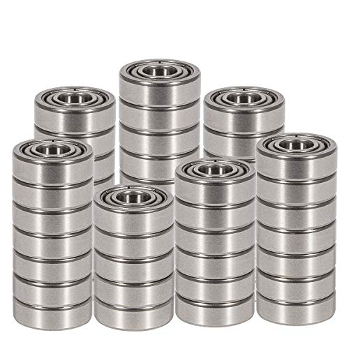 E-cowlboy 50 PCS R4-ZZ(1/4 x 5/8 x 10/51 inch) C3 Premium Sealed Radial Ball Bearing - Deep Groove Bearing - High Speeds - Suitable for Electric Motor Applications