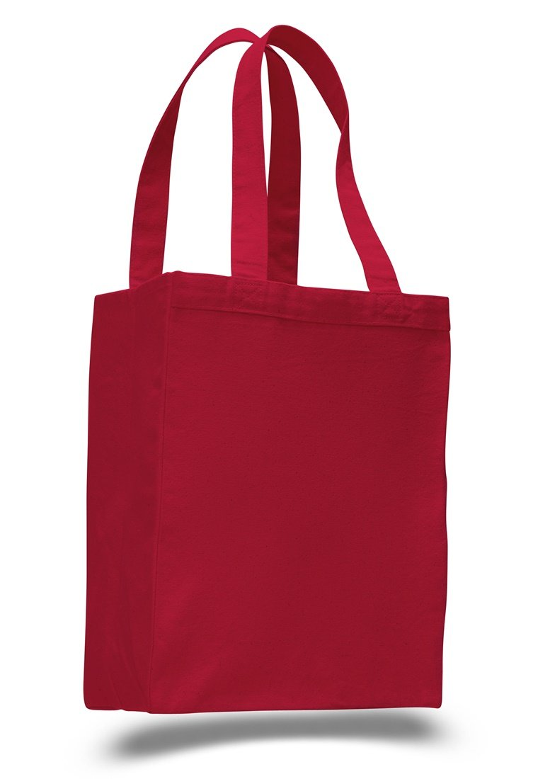 (Red)(12 Pack) Set of 12- Extra Heavy Duty Canvas Tote Bag with Gusset (Red) B0135EVA2O レッド レッド