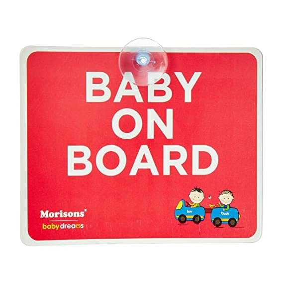 Baby Dreams MBD Baby on Board, Large (Multicolor)