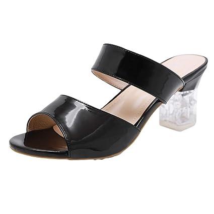 cbd1c8d5d546b Amazon.com: 2019 Women's Youth Slip on High Heels Sandals, Jiayit ...