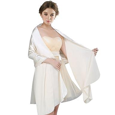 FIODAY Damenschal Silky Satin Stola Schal für Kleider Abendkleid ...