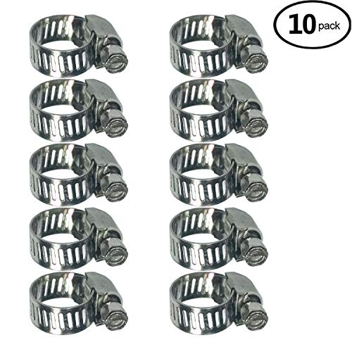 Adjustable Stainless Steel Worm Gear Hose Clamps (6-12mm)