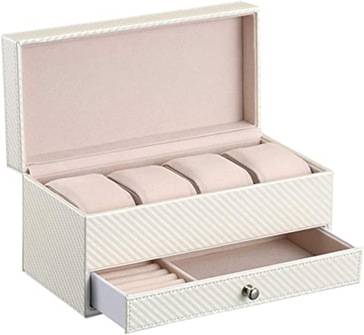 Caja de joyería Vitrina de almacenamiento de reloj de 2 capas para ...