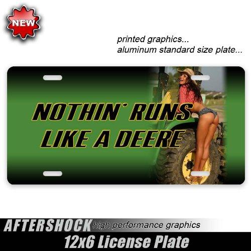 Deere Tractor Girl License Plate Farming John Cowboy ()