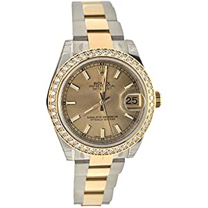 Rolex Datejust 31 Champagne Index Dial 18k Yellow Gold And Steel Ladies Watch 178383