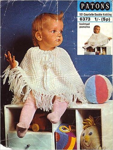 Patons Babys Poncho Knitting Pattern Amazon Books