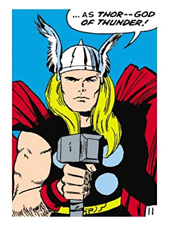 Acrylglasbild QuotMarvel Comics Retro Mighty Thor Comic Panelquot Von Marvel Kollektion