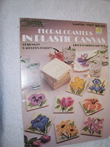 Leaflet Canvas - Leisure Arts Leaflet 1107 : Floral Coasters in Plastic Canvas (8 Coasters and Box)