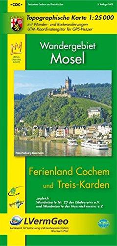 Ferienland Cochem und Treis-Karden (WR): Topographische Karte 1:25000 mit Wanderwegen und Radwanderwegen / Wandergebiet Mosel (Freizeitkarten Rheinland-Pfalz 1:15000 /1:25000)