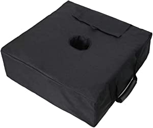 Square Umbrella Base Weight Bag, Umbrella Stand Outdoor Base, Sand Bags Heavy Duty Fits Any Patio Umbrella, Offset, Cantilever, and Any Outdoor Umbrella Stand (Easy Set Up & Install) - Up to 90lbs.